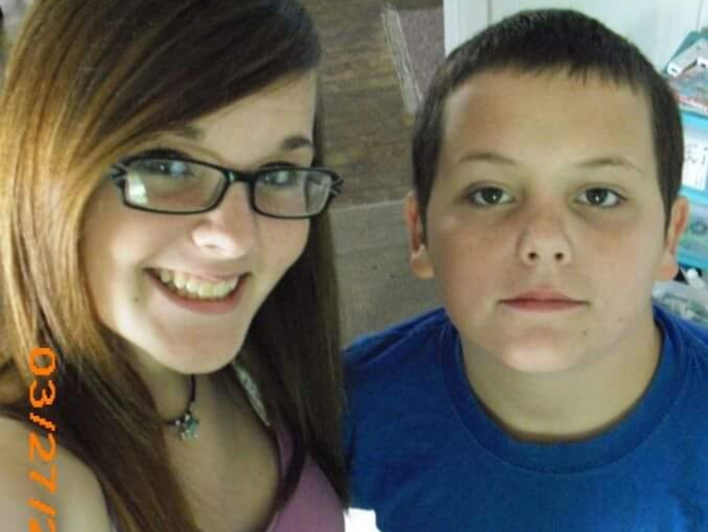 Robert with his sister, Erica, before the accident.