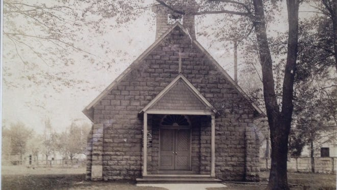A 1906 photo shows the original St. Mark's Episcopal Church building on Frankfort avenue at today's Kennedy Avenue.