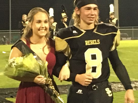 Sophomore Attendant Chole Taylor and her escort was