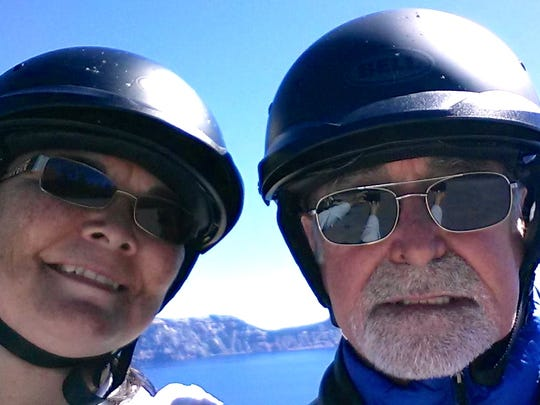 Anna and Bill Chamberland at Crater Lake National Park during Labor Day weekend, 2014.