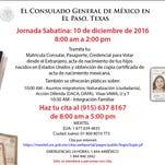 Consulado abierto al publico sabado 10 de diciembre