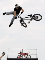 Scotty Cranmer, 19, of Jackson soars in the air with