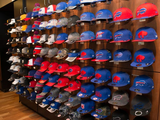 An array of the New Era Cap Company's products are
