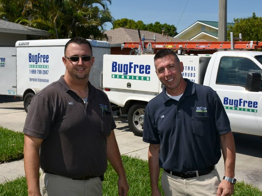 General manager Will Rogers and president Tom Leithauser. Bug Free Services offers comprehensive pest control from Marco Island to Pensacola.