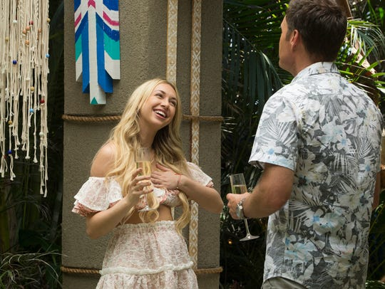 Corinne Olympios arrives on set for the fourth season