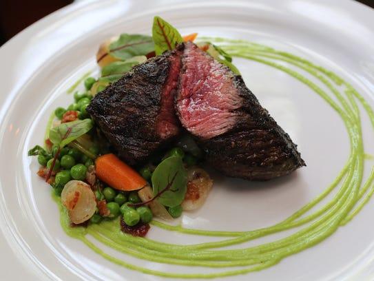 The hanger steak at Tuthill House at the Mill in Gardiner,