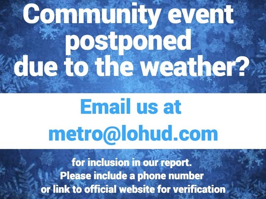 Email your community event updates to us at metro@lohud.com