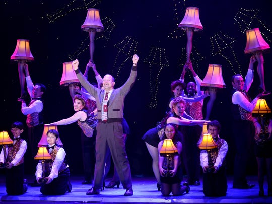 "As in the 1983 film, ""A Christmas Story: The Musical"" revels in the ""major award"" leg lamp that the Old Man wins."