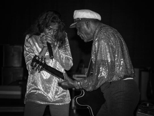 Chuck Berry performs with daughter Ingrid Berry.