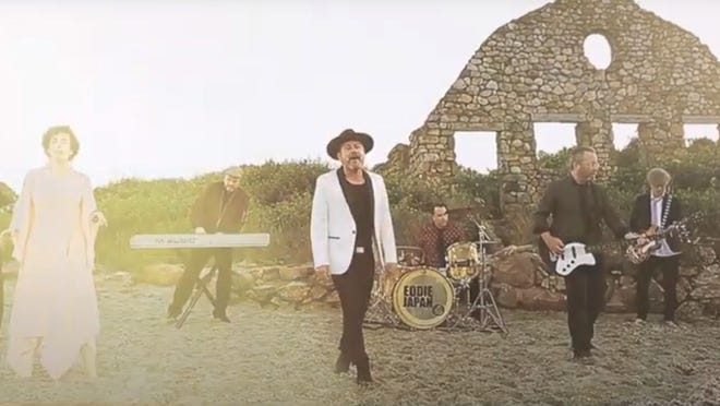 """The band Eddie Japan appears in a screen capture from the music video, """"Summer Hair."""""""
