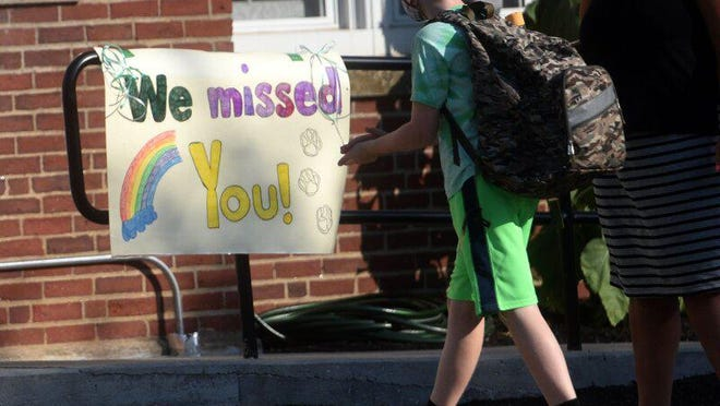Maple Street Magnet School welcomed back students Tuesday, Aug. 11 as the first school in New Hampshire to reopen to in-person learning amid the coronavirus pandemic, according to the state Department of Education. The other 11 public schools in Rochester are scheduled to open Sept. 3.