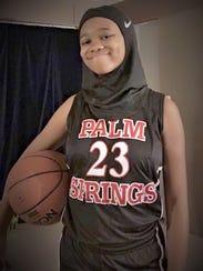 Camrin Hampton, a freshman at Palm Springs High School,