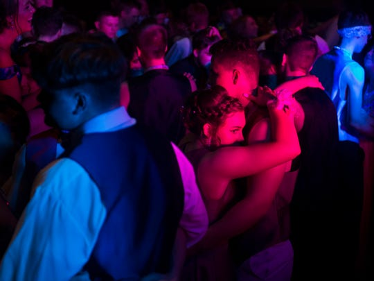 Mount Vernon students slow down for a couples dance