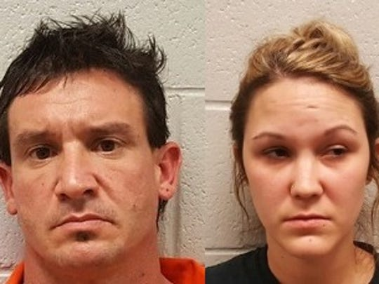 Gregory Eugene Carlock (left) and Heather Weatherford