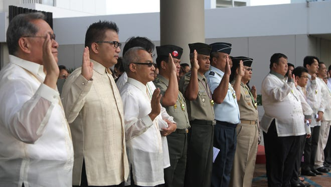 A flag raising ceremony and celebratory breakfast was held for the 117th anniversary of the proclamation of Philippine Independence at the Guam Reef and Olive Spa Resort in Tumon on June 12.