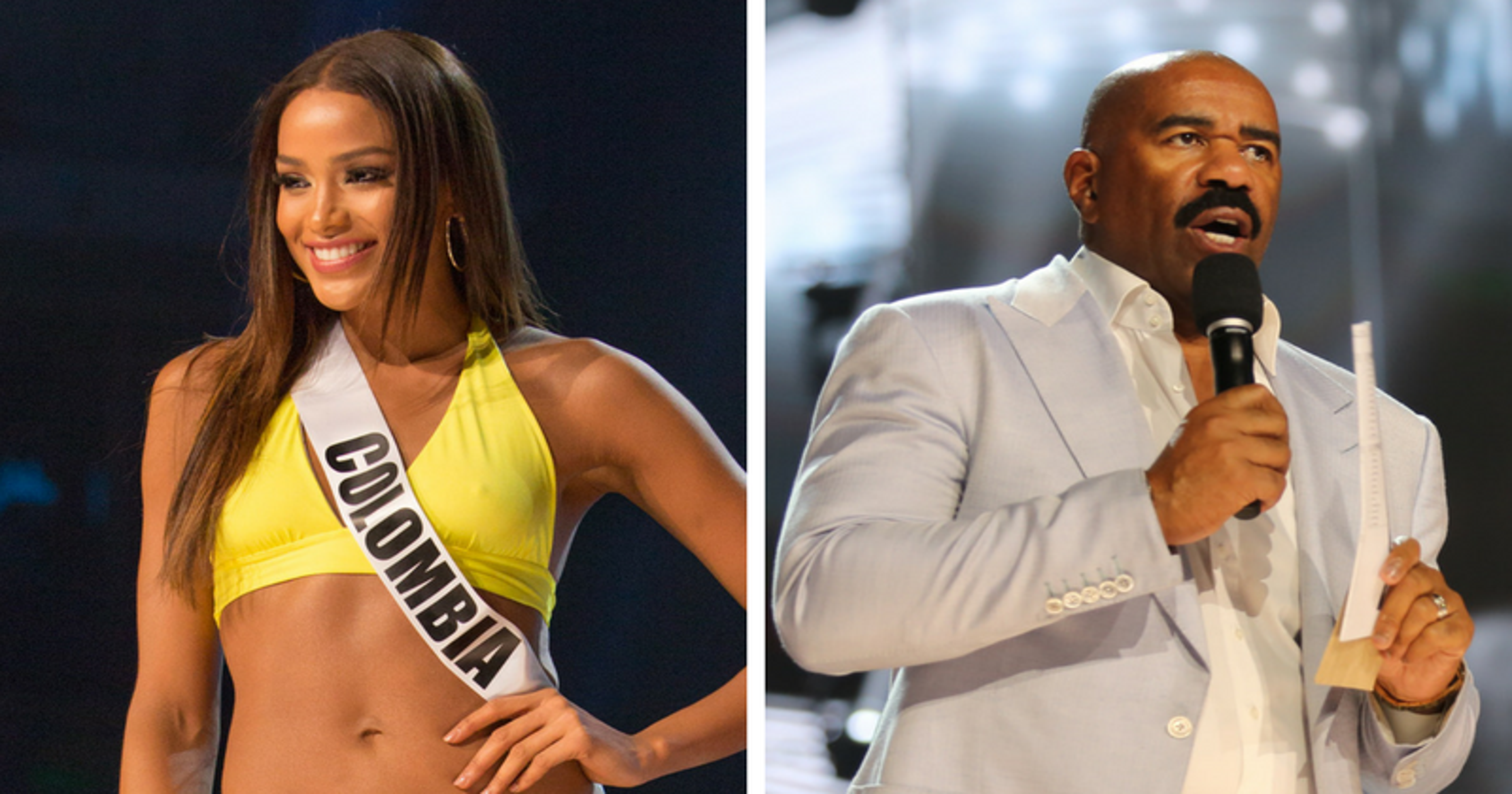People hate you': Miss Colombia roasts Steve Harvey at Miss Universe