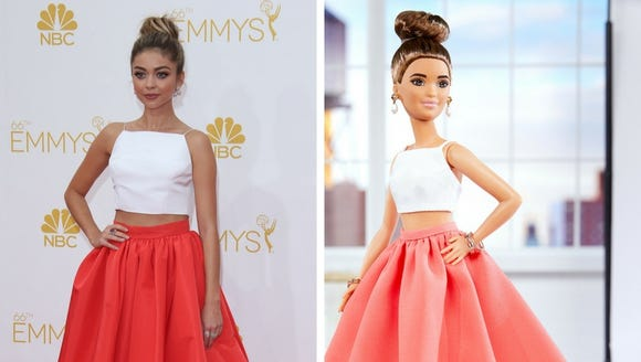 Sarah Hyland's two-piece look for the 2014 Emmys served