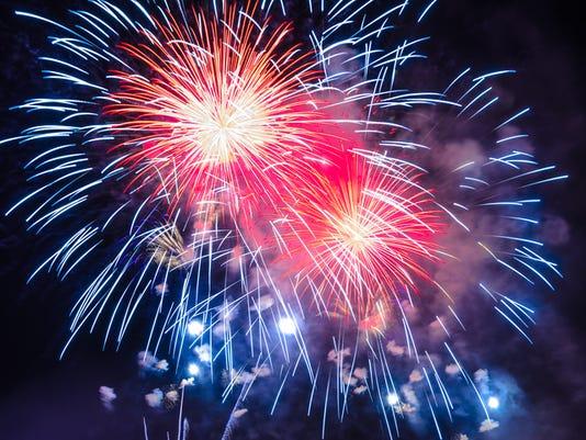 Firework Background - 4th July Independence day celebration