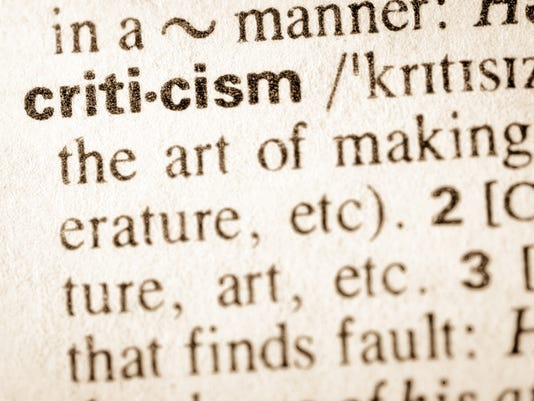 Dictionary definition of word criticism