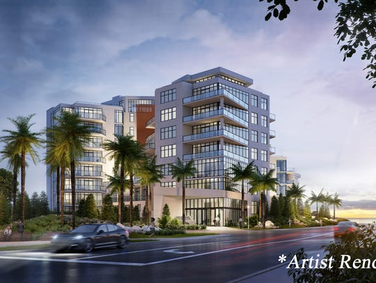 A rendering of South Beach at Long Branch, a luxury