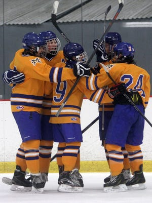 Mahopac celebrated a 4-1 win over Greeley on Sunday.