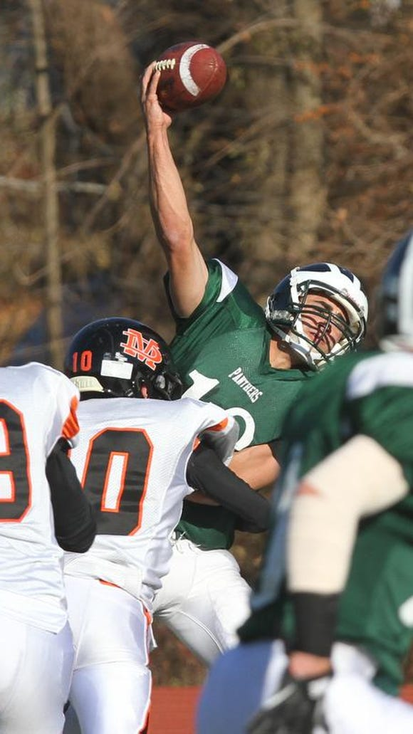 Pleasantville lost to Marlboro in the 2013 Class B state quarterfinals. The teams meet again in the same round Nov. 10, 2017 at Mahopac High School.