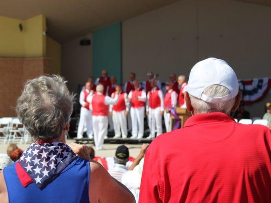 Estero residents listen to the Gulf Coast Harmonizers