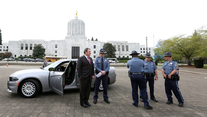 Oregon State Police and the Oregon Department of Transportation kicked off National Distracted Driver Awareness Month in 2016 by showcasing one its unmarked patrol vehicles designed to target drivers texting, talking and tweeting on their phones.