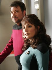 "Marina Sirtis (right) of the TV series ""Star Trek: The Next Generation"" will replace fellow cast member Jonathan Frakes at the 2018 SWFL SpaceCon."
