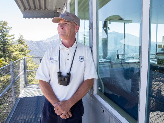 Ron DiFelice has worked at Black Mountain Fire Lookout since 1998.