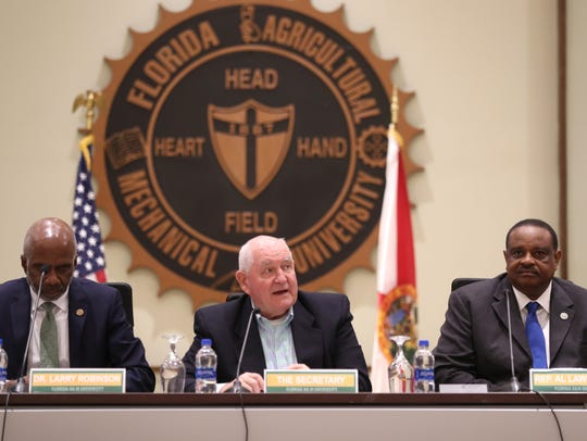 FAMU President Larry Robinson, from left, U.S. Secretary
