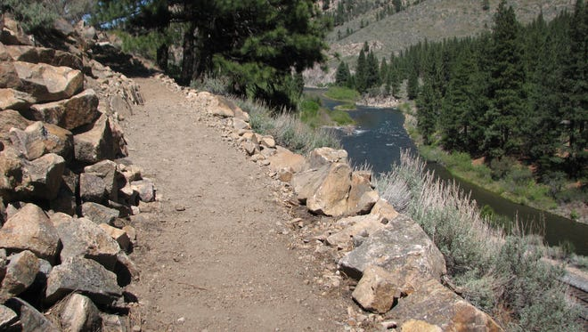 A stretch of the Tahoe-Pyramid Bikeway, seen early this year. A California agency has granted $9 million to help complete the Tahoe Bikeway.
