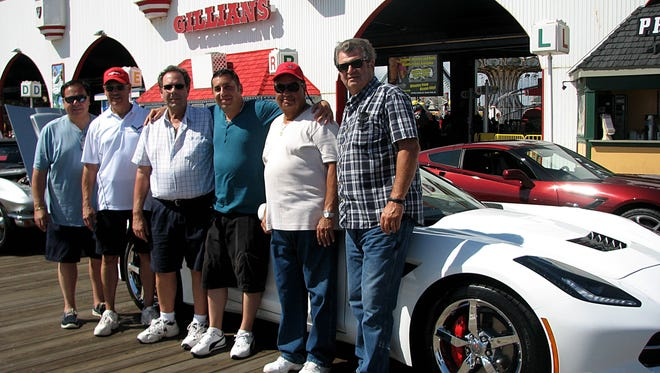 Corvette owners (from left) Charlie Santilli of Hammonton, Frank Balsama of Hammonton, Buster Petronglo of Vineland, Michael Cafarelli of Minotola, Carmen Merlino of Hammonton and Ricky Demarco of Hammonton attended the Ocean City Corvettes on the Boardwalk Show on Sept. 18. More than 500 Corvettes were in attendance.