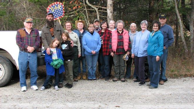 Members of the DAR joined the Mark Twain Forest friends in October of 2016 to remove trash and debris.