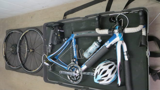 If you are flying to your destination, you will have to disassemble and pack your bike in a secure box weighing no more than 50 pounds.