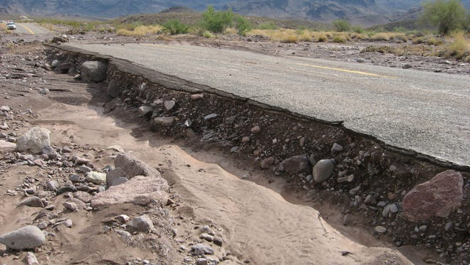 Nearly half of Mohave County's roads are due for replacement, plagued in places by spiderweb cracking and erosion that has eaten chunks from the edges.