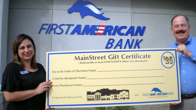 Pictured are First American Bank employees Melanie Reese, Assistant Vice President and Joel Schram, Market President.