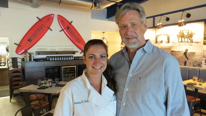 Ashley Walsh, chef, and Bill Kracht, owner, pose in the dining room at The Shores in Oxnard. Kracht bought the nearly 35-year-old business in December and reopened it after renovations that included the introduction of a California eclectic menu by Walsh, a graduate of the Culinary Institute of America.