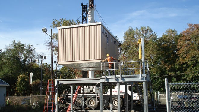 Orange and Rockland Utilities installed a new control house at its gas gate station in Suffern in October, a replacement for the station that sustained significant flood damage during Hurricane Irene in 2011.