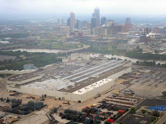 This file photo shows the site of the former GM stamping
