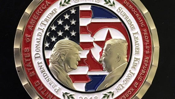 U.S. and North Korea Peace Talks commemorative 'Challenge