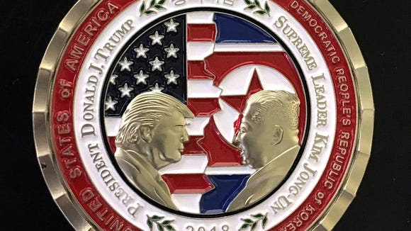 Trump, Kim Jong Un summit coin now on sale after meeting