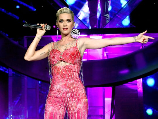 Katy Perry performs onstage with Zedd at Coachella