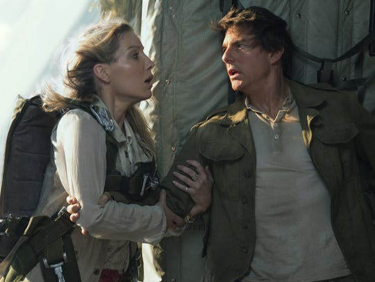 "Annabelle Wallis and Tom Cruise star in ""The Mummy."""