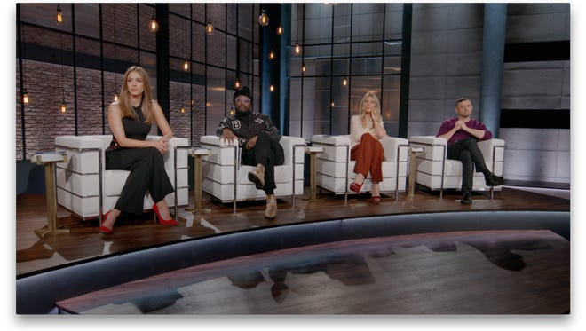 Jessica Alba (left), Will.i.Am, Gwyneth Paltrow and Gary Vaynerchuk are the advisers on Apple Music's 'Planet of the Apps.'