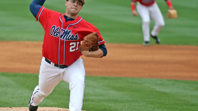 Ole Miss Baseball vs Florida on Friday, March 21st, 2015 in Oxford, MS.Photo by Joshua McCoy/Ole Miss Athletics