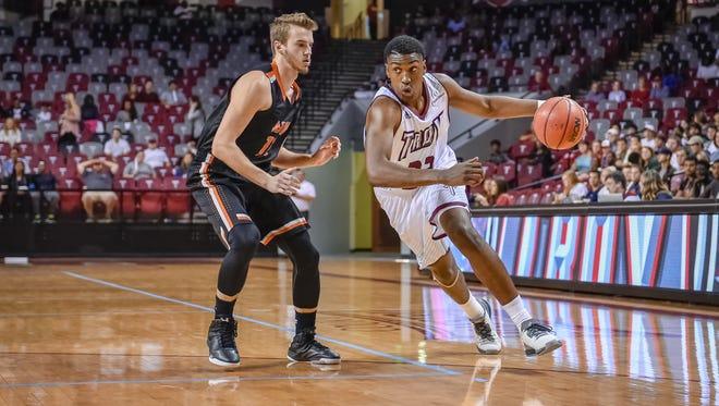 Troy freshman Jordon Varnado, a Haywood grad, is averaging 16 points and eight rebounds per game.
