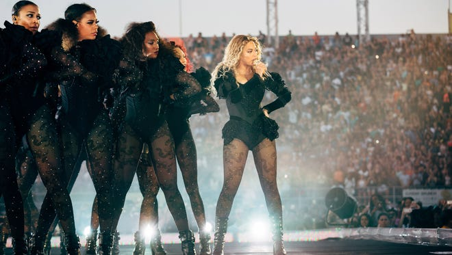 Beyonce performs during the Formation World Tour at Hershey Park Stadium on June 12, in Hershey, Pa.