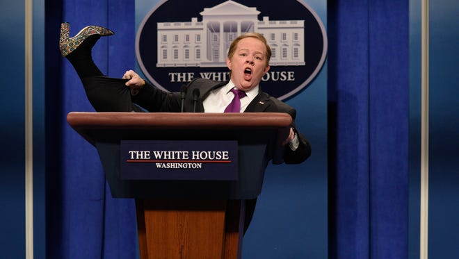 Melissa McCarthy as Sean Spicer during 'Saturday Night Live's' cold open on Feb. 11.