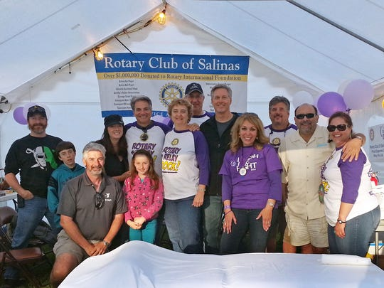 The Rotary Club of Salinas Relay for Life team poses for a photo in 2014.